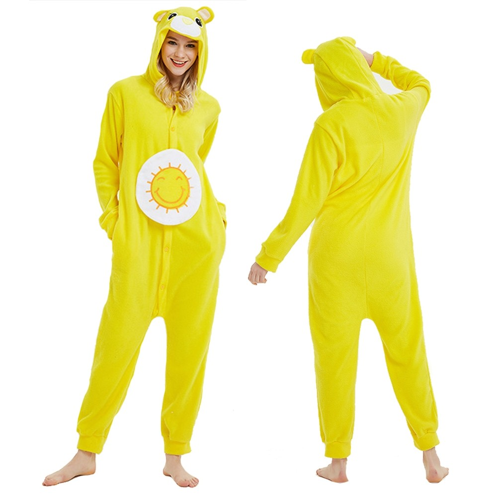 Yellow Care Bear Onesie Pajamas Animal Onesies for Adult & Teens