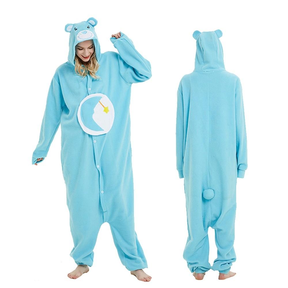Blue Care Bear Onesie Pajamas Animal Onesies for Adult & Teens