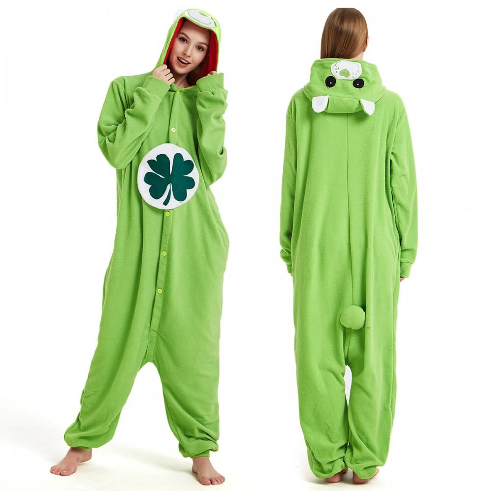 Green Care Bear Onesie Pajamas for Adult & Teens Animal Onesies