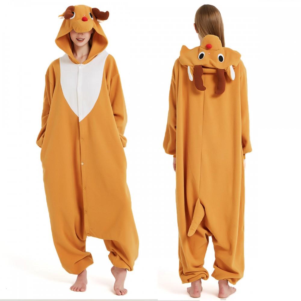Rudolph Reindeer Onesie Pajamas for Adult & Teens Animal Onesies