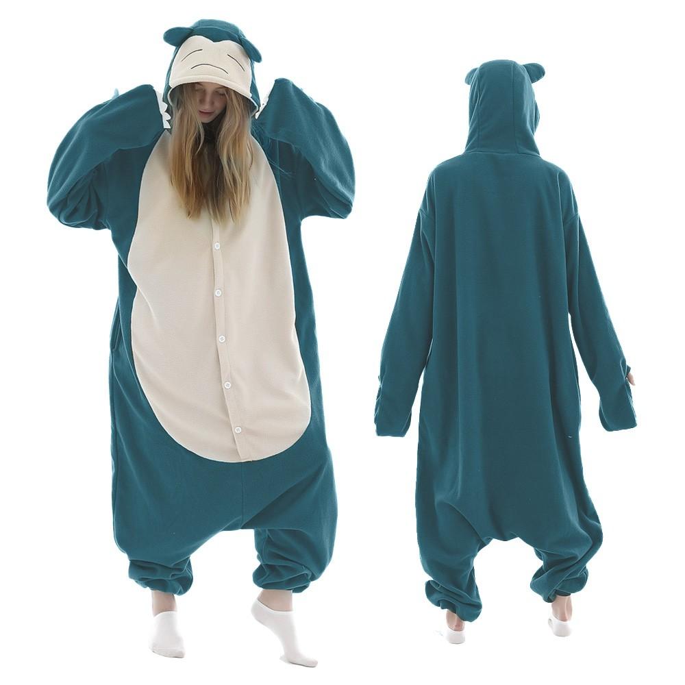Plus Size Snorlax Onesie Pajamas for Adult & Teens Animal Onesies
