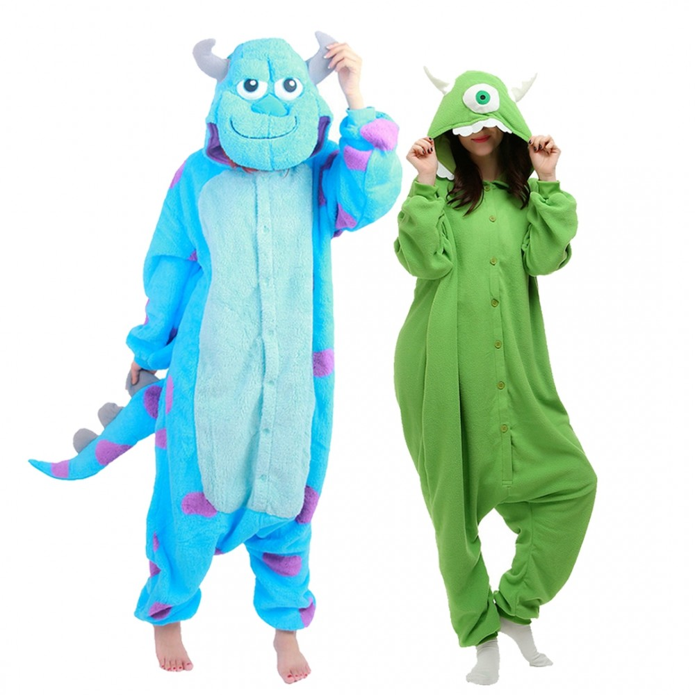Mike Wazowski & Sully Onesie Pajamas for Adult & Teens Animal Onesies