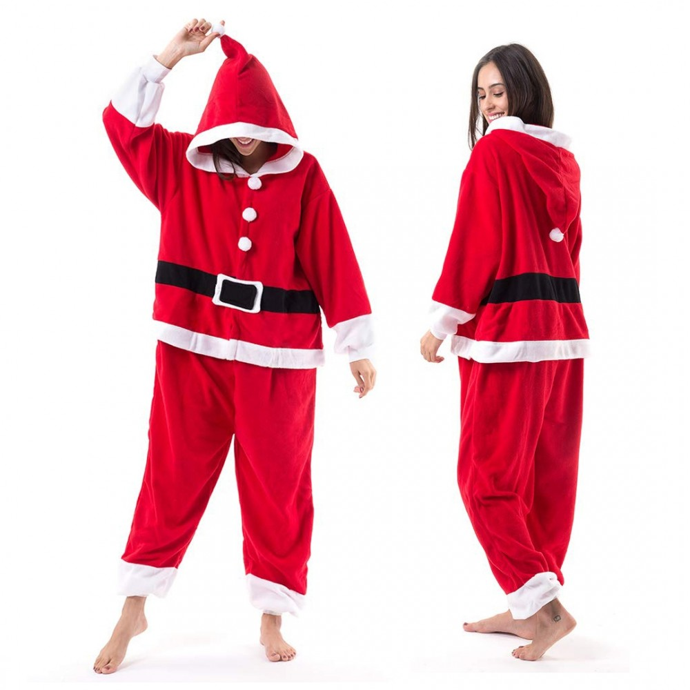Santa Claus Onesie for Adults & Teens Mens and Womens Christmas Costume