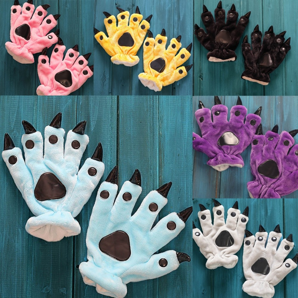 Cute Paw Gloves Matching Animal Onesies for Adult & Kids