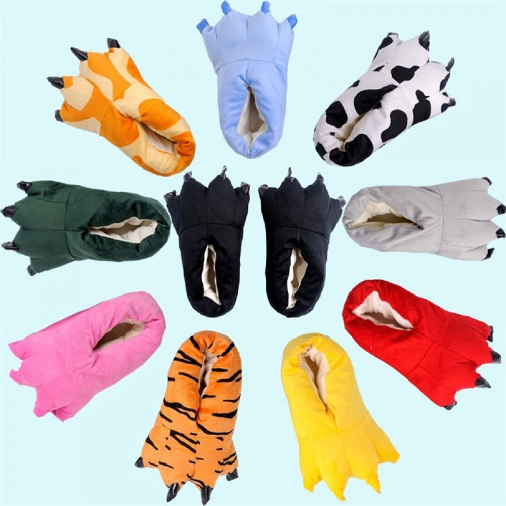 Cute Paw Slippers Matching Animal Onesies for Adult & Kids