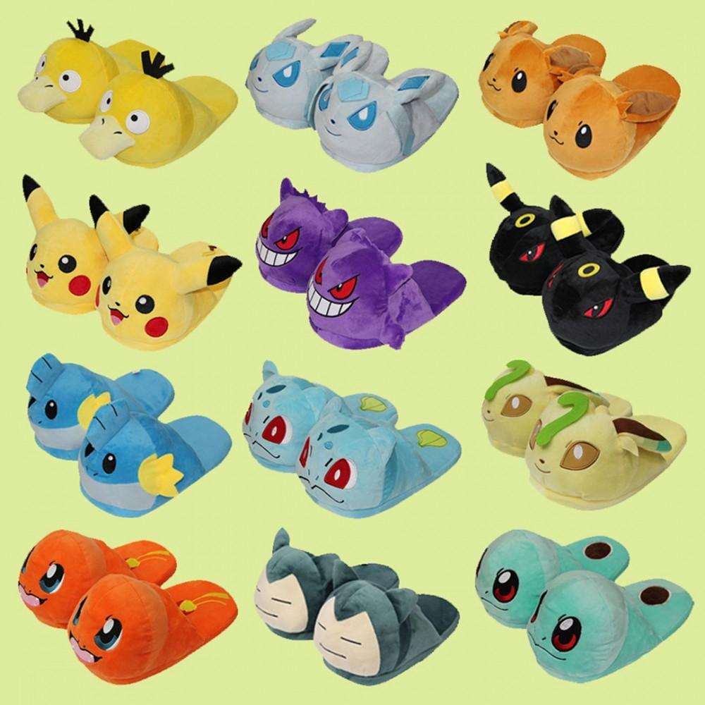 Cute Pokemon Plush Slippers Adults Pokemon House Shoes