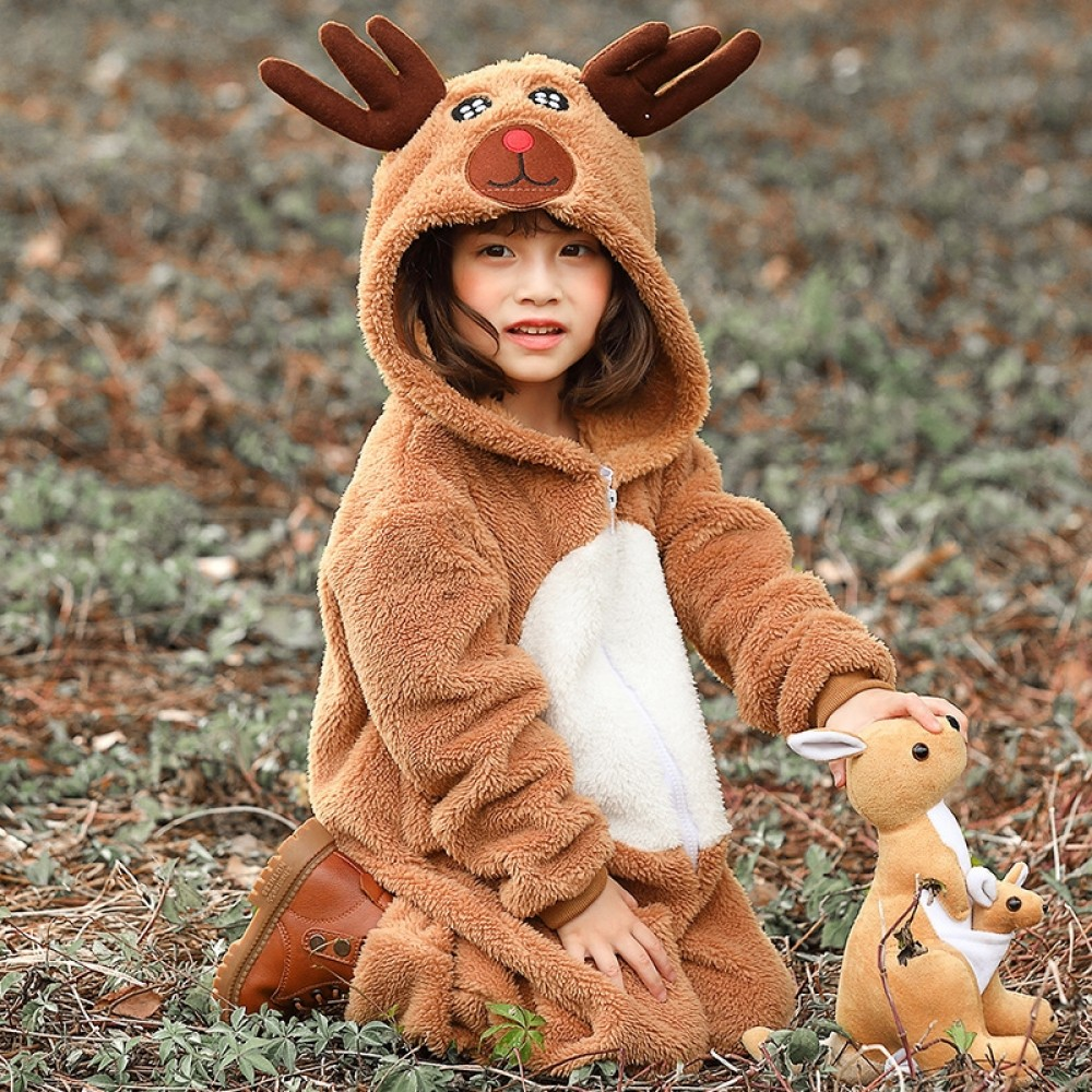 Reindeer Onesie for Kids Rudolph Onesie the Red Nosed Christmas Costumes